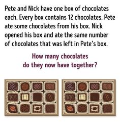 10Logic Puzzles That Will Increase Your IQ Chocolates, Mental Maths Worksheets, Logic Problems, Fun Trivia Questions, Android Codes, Math Division, Brain Teaser Puzzles, Jokes And Riddles, Order Of Operations