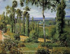 Camille Pissarro The Countryside in the Vicinity of Conflans Saint Honorine, 1874 painting online, painting Authorized official website