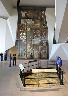 Collections Wall at the Natural History Museum of Utah - over 600 objects representing the museum's diverse collection.