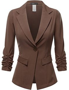 FPT Womens 3/4 Cinched Sleeve Single Button Boyfriend Blazer BROWN SMALL Fifth Parallel Threads http://www.amazon.com/dp/B010MRAC3A/ref=cm_sw_r_pi_dp_yjdjwb1ZWSF7N