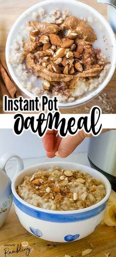 Making Instant Pot oatmeal is a quick and easy way to get a healthy, nutritious breakfast on the table fast! This oatmeal is creamy and delicious and it is fun to top it off with your favorite oatmeal topping.