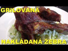 Grilovaná nakládaná žebra - YouTube Steak, Beef, Youtube, Food, Meat, Essen, Steaks, Meals, Youtubers