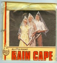 "Rain Cape- ??...hmmm....should say ""this is not a toy, may cause suffocation and death""."