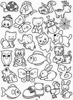 tranh-to-mau-cho-be-4-5-tuoi-38 Art Drawings For Kids, Drawing For Kids, Cartoon Drawings, Easy Drawings, Art For Kids, Cool Coloring Pages, Coloring Books, Embroidery Patterns, Quilt Patterns