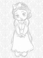 Princesas Disney: Bocetos de las Princesas Disney de bebés