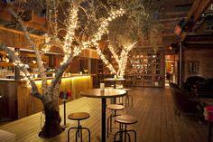 reminds me of the Hudson in LA Restaurant Layout, Outdoor Restaurant, Restaurant Interior Design, Restaurant Bar, Cafe Design, House Design, Moon Dance, Hookah Lounge, Food Court