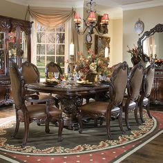 The Essex Manor Formal Dining Room Collection - dining room furniture, dining room sets, dinette sets Dining Room Design, Luxury Dining Room, Beautiful Dining Rooms, Dining Furniture, Formal Dining Room Sets, Luxury Dining, Elegant Dining Room, Furniture Design, Aico Dining Room