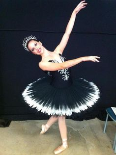 Black and Silver Stretch Tutu with Black and Silver Tiara Robin McCarthy