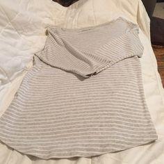 Eddie Bauer NWOT grey and white stripe , feminine fit, 3/4 sleeves, NWOT Eddie Bauer Tops Tunics