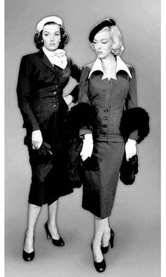 Marilyn Monroe and Jane Russell on the set of Gentleman Prefer Blondes  Gentlemen Prefer Blondes, 8f81a9ee1267
