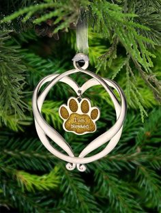 I Am Blessed Paw Print Ornament at The Animal Rescue Site