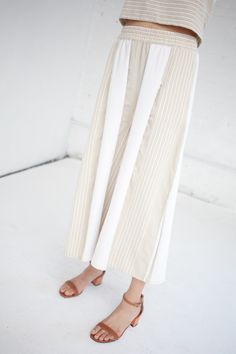Ace & Jig has nailed the summer stripe with their Jo wide leg culottes.