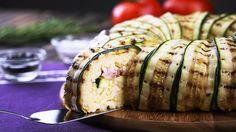 Un tortino di zucchine ripieno di riso... gustoso e leggero!