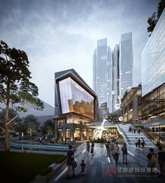 Architecture Visualization, Facade Architecture, Office Buildings, Modern Buildings, Light Art Installation, Shopping Street, Commercial Architecture, Ant, Retail