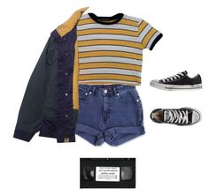 """""""Untitled #121"""" by hnnhstpls ❤ liked on Polyvore featuring Jag and Converse Alternative Outfits, Retro Fashion, Teen Girl Fashion, Gothic Fashion, Fashion Moda, 90s Fashion, Fashion Outfits, Punk Outfits, School Outfits"""