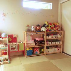 棚/IKEA/和室/キッズスペース/こどもと暮らす。/ゼロキューブ…などのインテリア実例 - 2016-08-07 12:38:18   RoomClip(ルームクリップ)