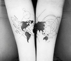 World tattoo by Balazs Bercsenyi