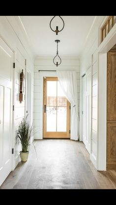 I love the light fixtures... And shiplap
