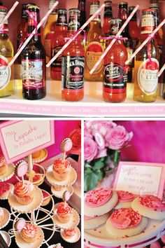 Looking for bachelorette party decoration inspiration? Check out this fabulous pink, black, and booze-themed get-together! From the dessert table to the bar cart, you can find everything you need to throw the best celebration.