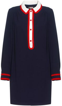 Contrast Trim Shirt Dress - Lyst