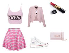 """""""Girly girl"""" by caseylouiseipad on Polyvore featuring Alexander Wang, Chanel, BCBGMAXAZRIA, Converse and Ted Baker"""