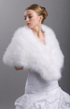 etole plumes blanche splendide neuve paris - Bolero Plume Mariage