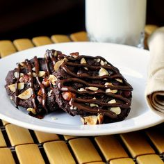Nutella Crunch Cookies - a soft chocolatey Nutella cookie with the crunch of hazelnuts that toast as the cookie bakes.