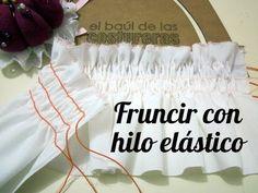 Frunces con hilo elástico - YouTube
