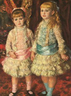 "Auguste Renoir ""Pink and Blue"" http://mondialart.co.uk"