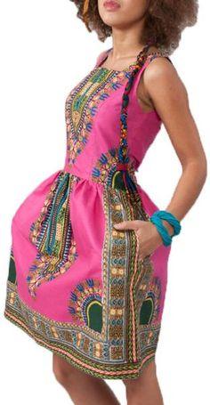 Ethnic Totem Sleeveless Dress