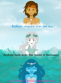 The 3 Tagalog Primordial deities that created the first people and islands. Filipino Words, Filipino Art, Filipino Culture, Philippine Mythology, Philippine Art, Greek Mythology, Mythological Creatures, Mythical Creatures, Alibata
