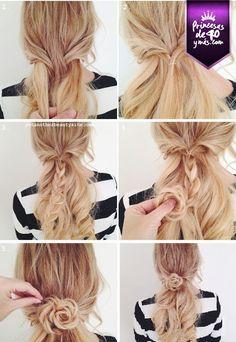 Una buena idea para las princesas de cabello largo.
