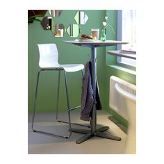 BILLSTA Bar table IKEA Table top covered with melamine, a heat- and scratch-resistant finish that is easy to clean.