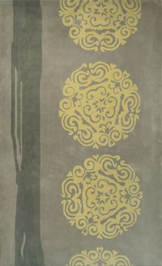 Gamalan Gray Yellow Rug from the Orient collection at Modern Area Rugs