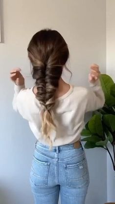 Pretty Braided Hairstyles, Fishtail Hairstyles, Easy Hairstyles For Long Hair, Diy Hairstyles, Easy Hairstyle Video, Long Hair Video, Medium Hair Styles, Short Hair Styles, Back To School Hairstyles