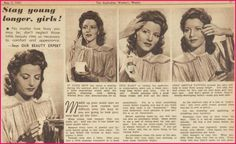 40s Actress – Julie Bishop | The War Time Woman...beauty treatments from the 40s