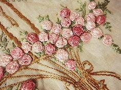 Anjo antigo e rosa | | - Basket bordado fronha antiga britânica e francesa Eglantyne (Egurantinu)
