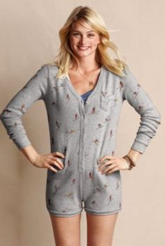 Women's Chalet Romper from Lands' End // wish this had a backdoor. for function & adorability.