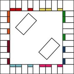Free Printable Board Game Templates  Could be used for math games, and other subjects. In order to buy a spot they have to answer a question about math, or parts of speech, or anything really.