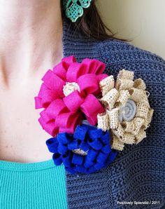 Broche de flor com feltro - Tutorial completo | Revista Artesanato