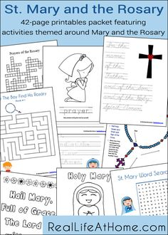 Mary and the Rosary Printables Packet (42 pages! Plus an additional 21 page subscriber bonus)