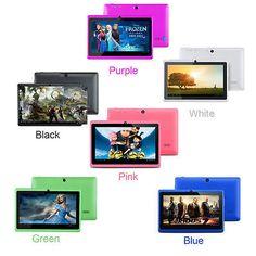 "7"" Android 4.4 Tablet PC Quad Core 8GB Bluetooth Wifi Dual Camera Multi Color"