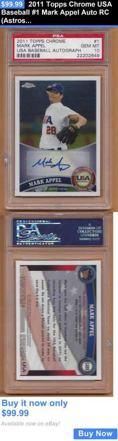 Sports Memorabilia: 2011 Topps Chrome Usa Baseball #1 Mark Appel Auto Rc (Astros) Psa 10 BUY IT NOW ONLY: $99.99