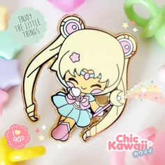 Enamel pin Chic Kawaii sailor moon magical girl pastel pins by ChicKawaii on Etsy https://www.etsy.com/listing/458422006/enamel-pin-chic-kawaii-sailor-moon