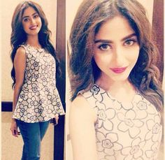 Latest Peplum Tops Designs & Styles Designer Collection consists of Pakistani top designer series of short peplum tops & frocks with lehenga, pants. Latest Top Designs, Short Frocks, Sajal Ali, Prettiest Actresses, Pakistan Fashion, Pakistani Actress, Pakistani Outfits, Girls Dpz, Lovely Dresses