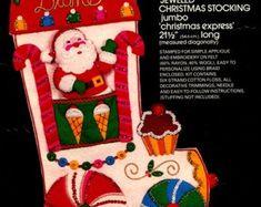 Bucilla Felt Kits, Rub'N Buff, Gallery Glass,Crafts,etc by FTHInternational Christmas Stocking Kits, Felt Christmas Stockings, Christmas Express, Celestial, Gingerbread, Etsy Seller, Create, Bullion Embroidery, Christmas Traditions