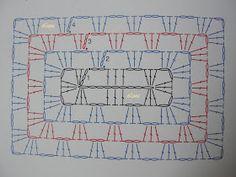 My Crochet , Mis Tejidos by Luna: Granny regtangle and pattern