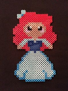 Ariel Perler Bead Figure by AshMoonDesigns on deviantART