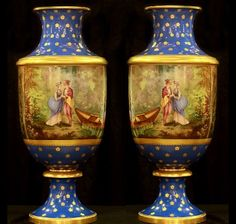 Sevres Style Vases | Charlotte Nail Antiques Showroom 165 at The Houston Design Center