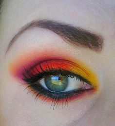Tropical sunset eye with #Sugarpill Burning Heart eyeshadow palette